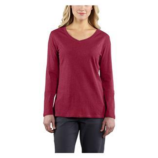 Carhartt Long Sleeve Calumet V-Neck T-Shirt Raspberry Heather