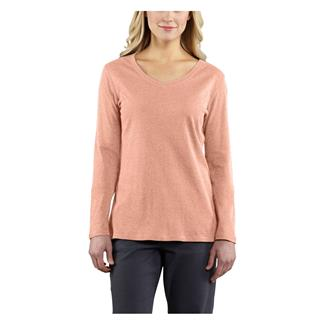 Carhartt Long Sleeve Calumet V-Neck T-Shirt Fresh Peach Heather