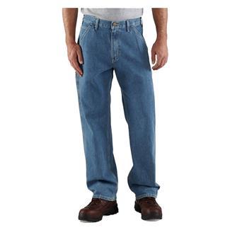 Carhartt Loose Original Fit Work Dungaree Pants Stonewash