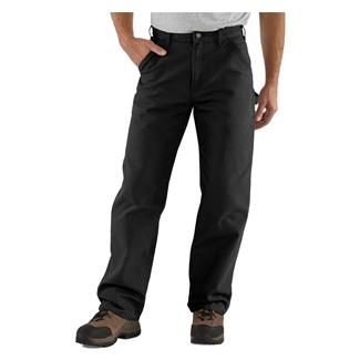 Carhartt Washed Duck Work Dungaree Pants Black