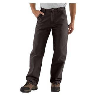 Carhartt Washed Duck Work Dungaree Pants Dark Brown