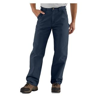 Carhartt Washed Duck Work Dungaree Pants Petrol Blue
