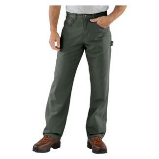 Carhartt Canvas Carpenter Jeans Dark Moss