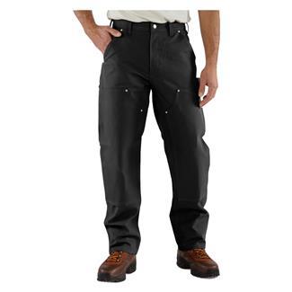 Carhartt Firm Duck Double Front Work Dungaree Pants Black