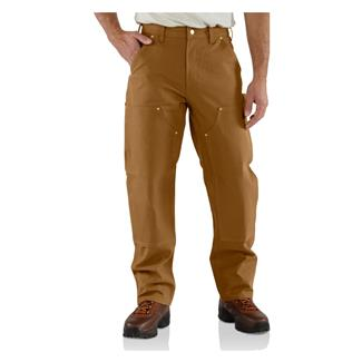 Carhartt Firm Duck Double Front Work Dungaree Pants Carhartt Brown