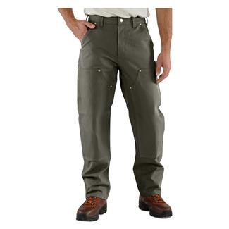 Carhartt Firm Duck Double Front Work Dungaree Pants Moss