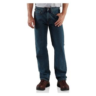 Carhartt Relaxed Fit Straight Leg Jeans Dark Vintage Blue