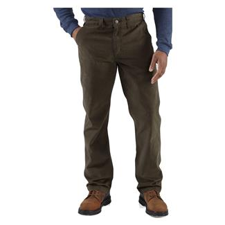 Carhartt Rugged Work Khaki Pants Dark Coffee