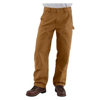 Carhartt Washed Duck Double Front Dungaree Pants Carhartt Brown