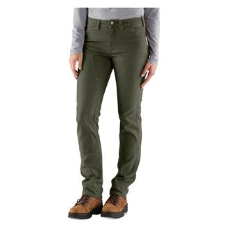 Carhartt 1889 Slim Fit Canvas Dungaree Pants Moss