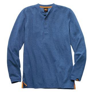 Timberland PRO Mad As Henley Long Sleeve Shirt Denim Indigo Heather
