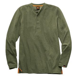 Timberland PRO Mad As Henley Long Sleeve Shirt Grape Leaf Heather