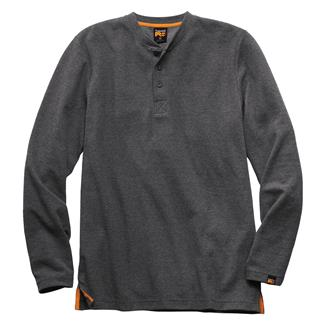 Timberland PRO Mad As Henley Long Sleeve Shirt Charcoal Heather Gray