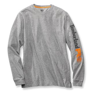 Timberland PRO Long Sleeve Logo T-Shirt Light Gray Heather