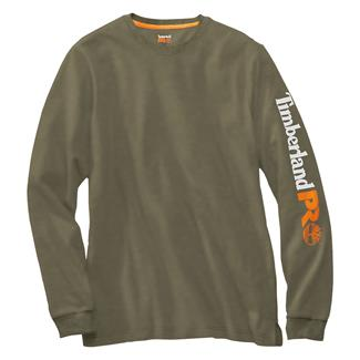 Timberland PRO Long Sleeve Logo T-Shirt Burnt Olive