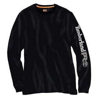 Timberland PRO Long Sleeve Logo T-Shirt Jet Black