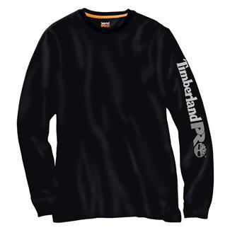 Timberland PRO Long Sleeve Logo T-Shirt Jet Black