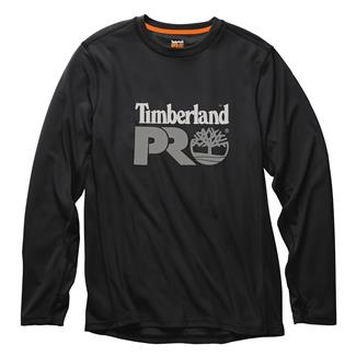 Timberland PRO Wicking Good Long Sleeve Logo T-Shirt Jet Black