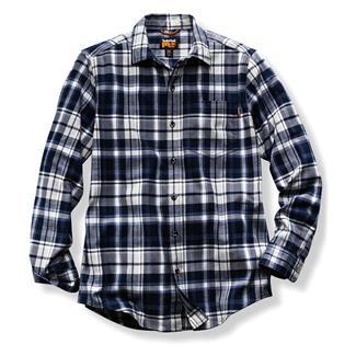Timberland PRO Flannel Work Shirt Navy Plaid