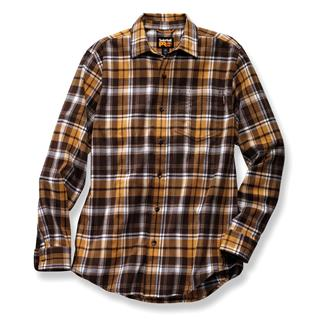 Timberland PRO Flannel Work Shirt Brown Plaid