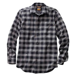 Timberland PRO Flannel Work Shirt Gray Plaid