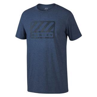 Oakley 50/50 Badge T-Shirt Heather Blue Shade / Light Gray