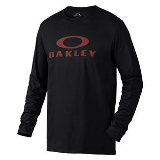 Oakley Long Sleeve Bark Repeat T-Shirt Jet Black