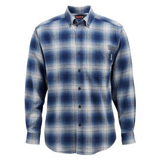Wolverine Hammond Long Sleeve Flannel Shirt Cadet Blue Plaid