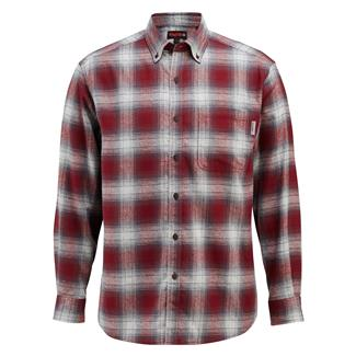 Wolverine Hammond Long Sleeve Flannel Shirt Burgundy Plaid