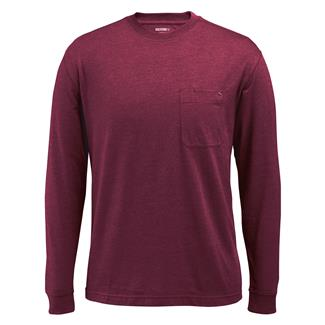 Wolverine Knox Long Sleeve T-Shirt Burgundy Heather