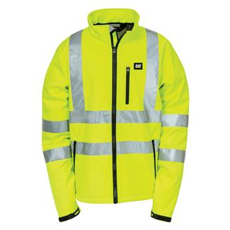 CAT Hi-Vis Soft Shell Jacket Hi-Vis Yellow