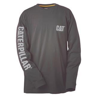 CAT Long Sleeve Trademark Banner T-Shirt Dark Shadow