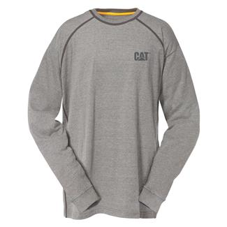 CAT Long Sleeve Preformance T-Shirt Heather Gray