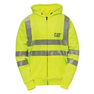 CAT Hi-Vis Full Zip Lined Sweatshirt Hi-Vis Yellow