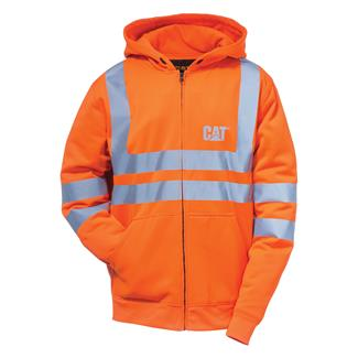 CAT Hi-Vis Full Zip Lined Sweatshirt Hi-Vis Orange