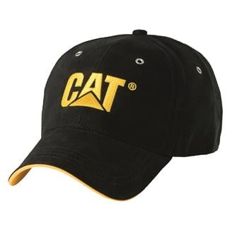CAT Trademark Microsuede Cap Black