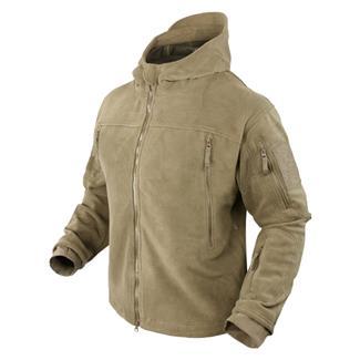 Condor Sierra Hooded Fleece Jacket Tan