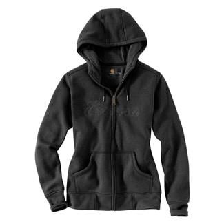 Carhartt Clarksburg Zip Hoodie Black Heather