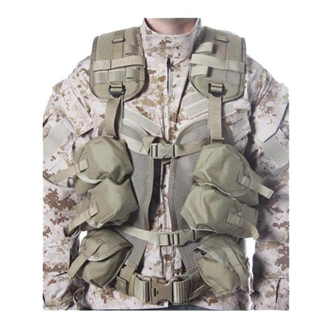 Blackhawk Enhanced Soldier Load Bearing Vest Coyote Tan