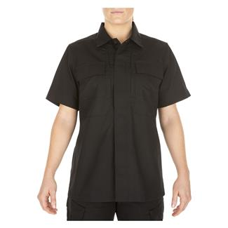 5.11 Short Sleeve Poly / Cotton Ripstop Taclite TDU Shirt Black