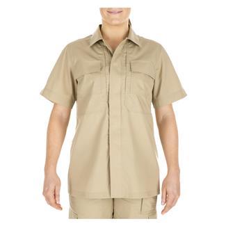 5.11 Short Sleeve Poly / Cotton Ripstop Taclite TDU Shirt TDU Khaki