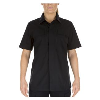 5.11 Short Sleeve Poly / Cotton Ripstop Taclite TDU Shirt Dark Navy