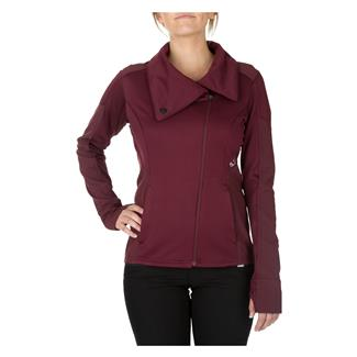 5.11 Kinetic Full Zip Shirt Garnet