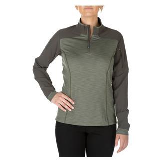 5.11 Rapid Half Zip Shirt Sage Green