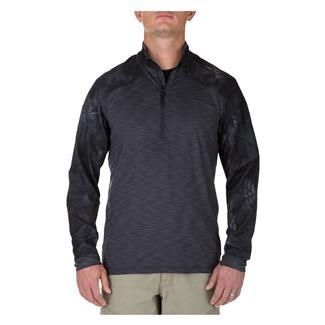 5.11 Rapid Half Zip Shirt Charcoal