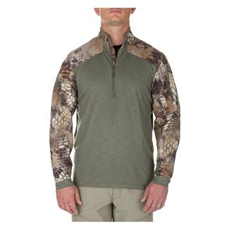 5.11 Rapid Half Zip Shirt Sage Green