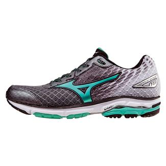 Mizuno Wave Rider 19 Alloy / Electric Green