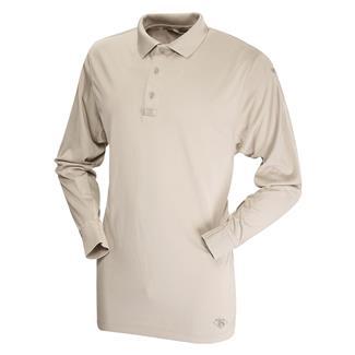 TRU-SPEC 24-7 Series Long Sleeve Performance Polo Silver Tan