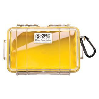 Pelican 1050 Micro Case Yellow w/ Clear Lid