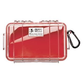 Pelican 1050 Micro Case Red w/ Clear Lid